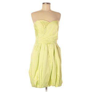 David's Bridal Yellowish Green Strapless Dress